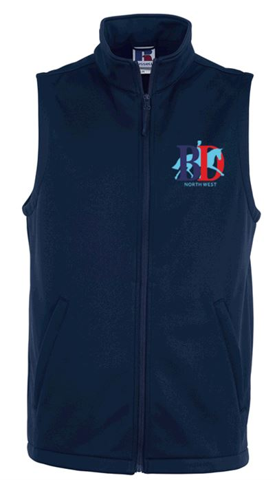 UNISEX SOFTSHELL GILET NAVY NORTH WEST LOGO
