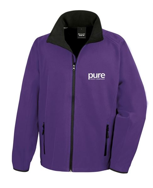 Pure-Unisex-Softshell-Jacket-purple-black