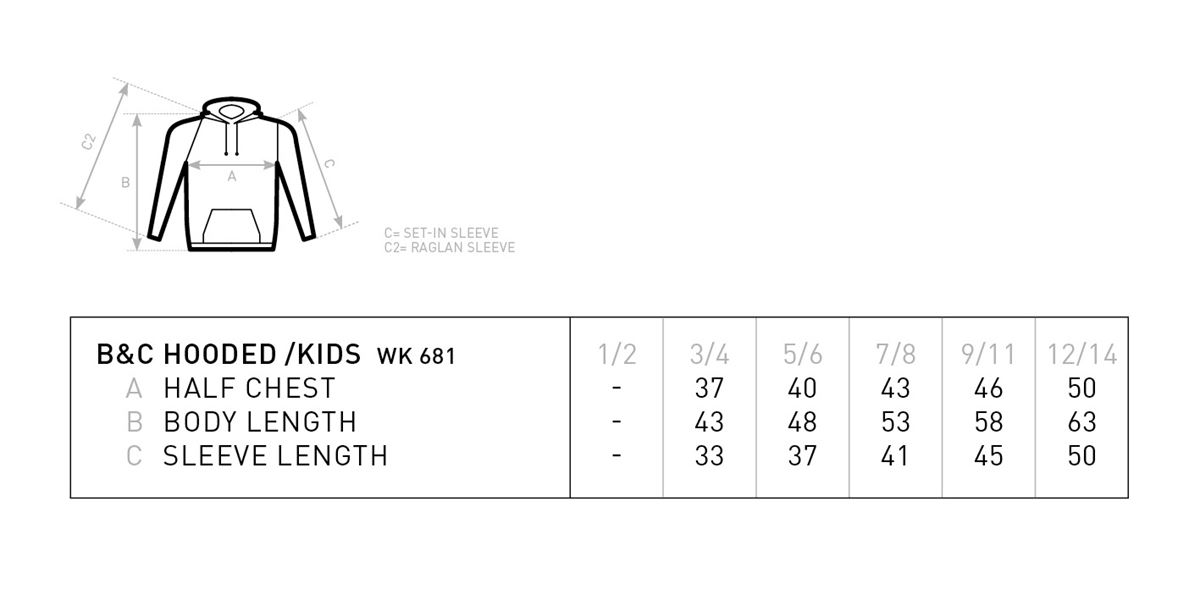 BD Youth hoodie childs sizes