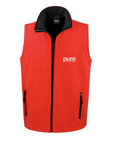 Pure-Unisex-Softshell-Gilet-red-black