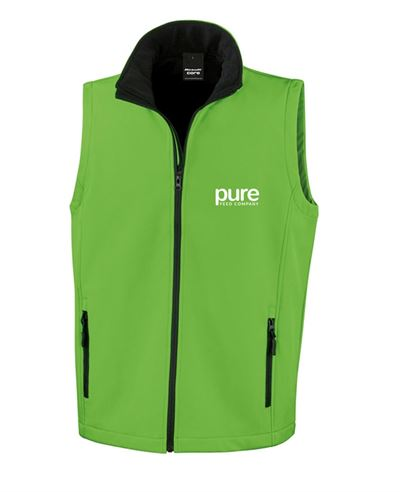 Pure-Unisex-Softshell-Gilet-vividGreen-black