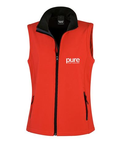 Pure-Ladies-Softshell-Gilet-red-black