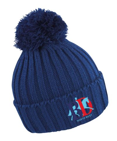 BOBBLE HAT NAVY NORTH WEST LOGO