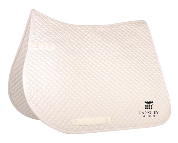 Langley Saddle pad with logo